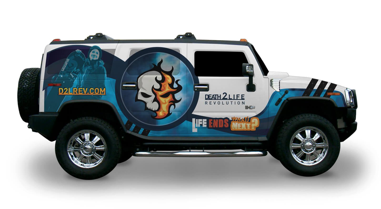 Death 2 Life Revolution - Car Wrap Design
