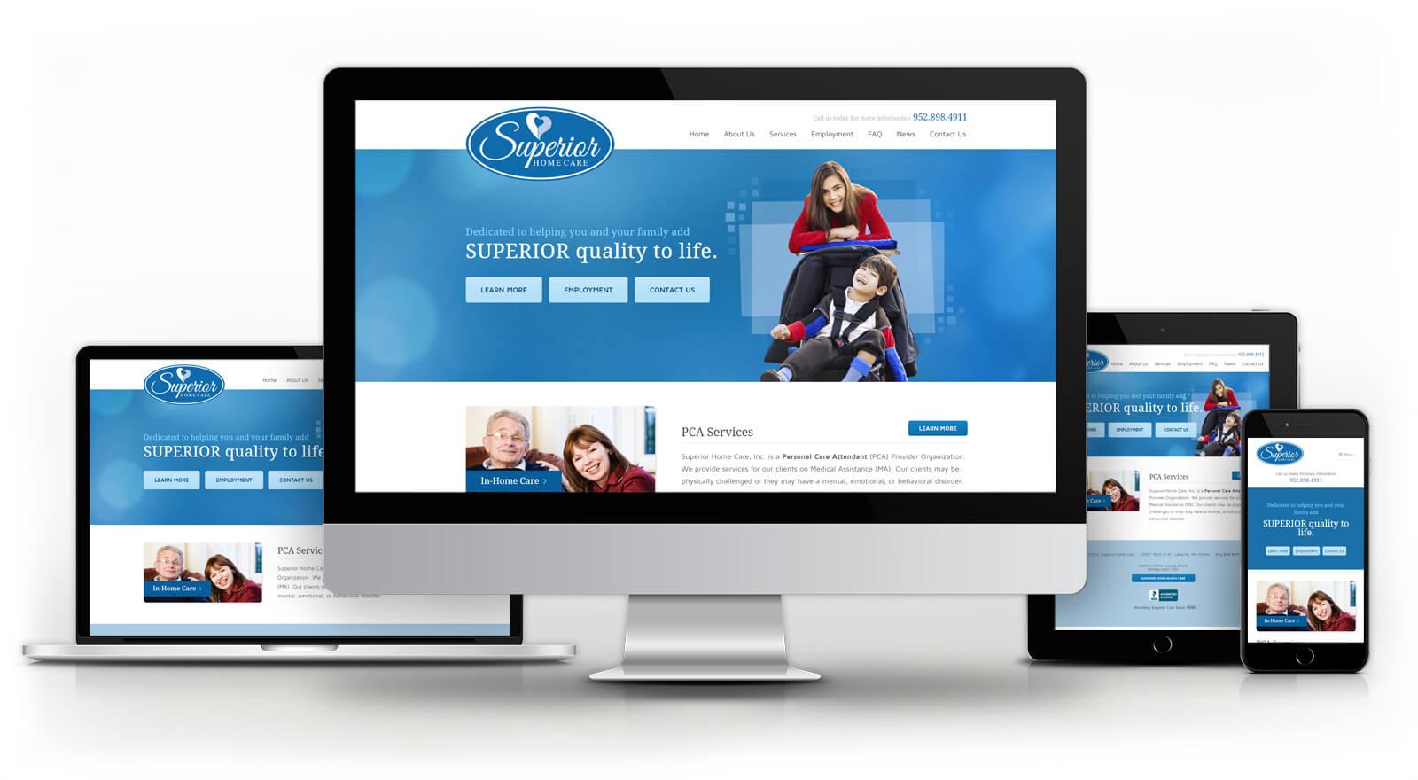 Superior Home Care - Website