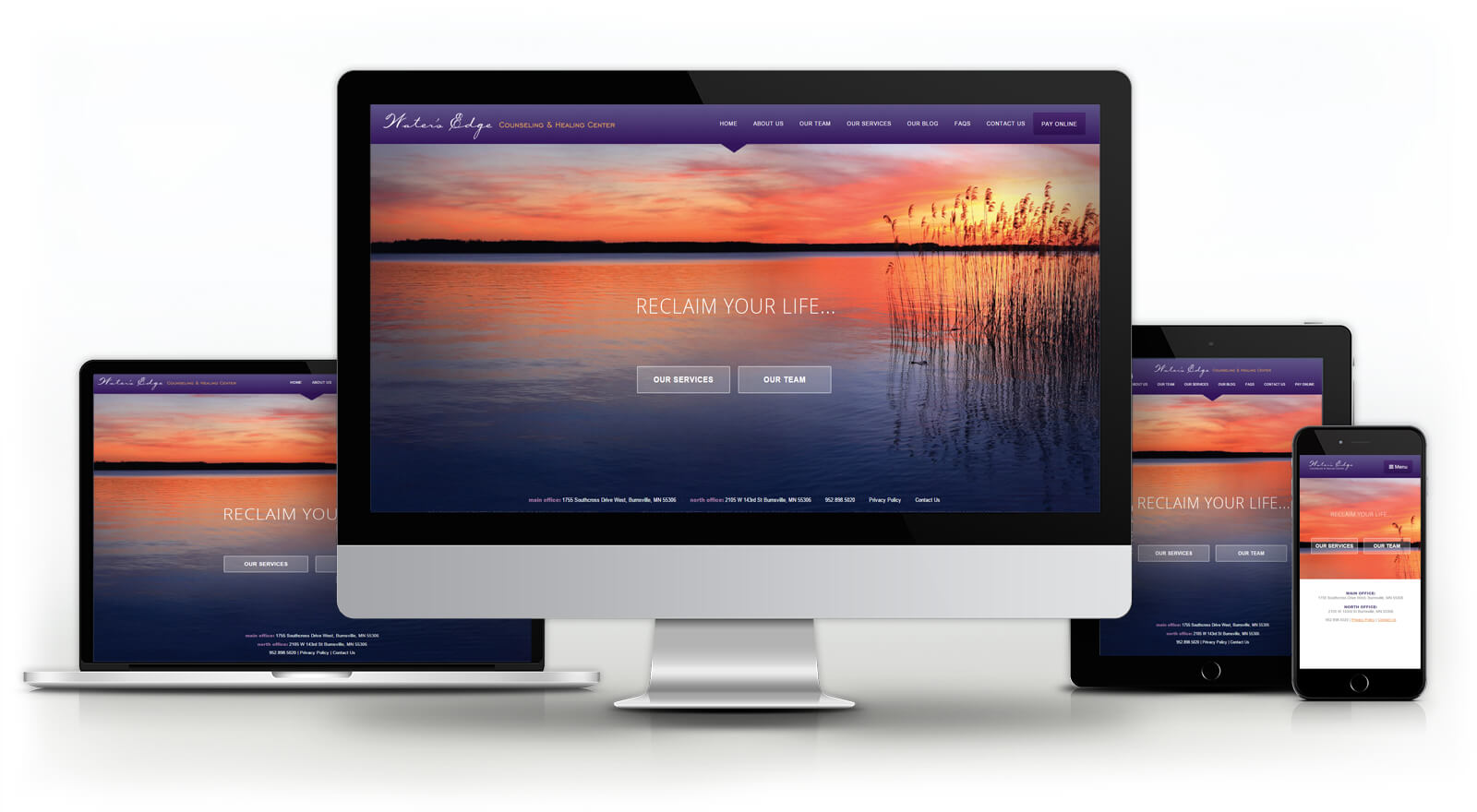 Water's Edge Counseling - Website